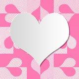 Struttura del cuore per il giorno del ` s del biglietto di S. Valentino Fotografia Stock Libera da Diritti