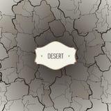 Struttura del deserto con le crepe Immagini Stock Libere da Diritti