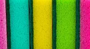 Struttura del dettaglio delle spugne, fondo del primo piano di struttura della spugna, colore Fotografie Stock Libere da Diritti