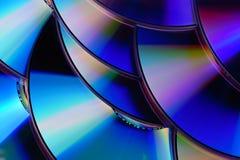 Struttura del disco del CD/DVD Fotografie Stock