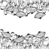 Struttura del dito di Linework illustrazione vettoriale