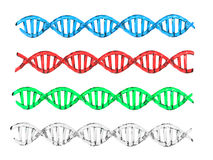 Struttura del DNA Immagini Stock Libere da Diritti