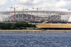Struttura del ferro dello stadio agli eventi sportivi Fotografia Stock Libera da Diritti