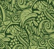 Struttura del fondo degli elementi decorativi vegetativi che esprimono il tumulto della natura Immagini Stock