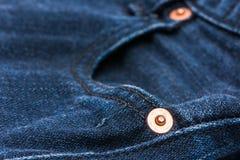Struttura del fondo dei jeans Fotografia Stock Libera da Diritti