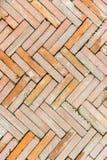 Struttura del fondo del passaggio pedonale del mattone di lerciume Fotografia Stock