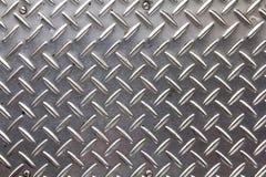 Struttura del fondo del piatto del diamante del metallo. Fotografie Stock Libere da Diritti