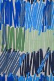 Struttura del fondo del tessuto della linea blu Fotografia Stock