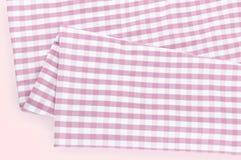 Struttura del fondo del tessuto rosa del plaid Fotografia Stock Libera da Diritti