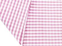 Struttura del fondo del tessuto rosa del plaid Fotografie Stock Libere da Diritti