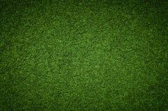 Struttura del fondo dell'erba verde, campo di erba artificiale Fotografie Stock Libere da Diritti