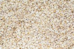 Struttura del fondo della farina d'avena Fotografie Stock