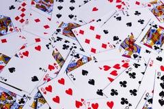 Struttura del fondo delle carte da gioco Immagine Stock Libera da Diritti