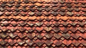 Struttura del fondo delle mattonelle di tetto fotografia stock