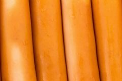 struttura del fondo delle salsiccie Fotografia Stock