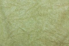 Struttura del fondo di Olive Green Bathroom Towel Textile per progettazione fotografia stock