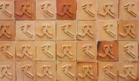 Struttura del fondo di sport in mattonelle Fotografie Stock