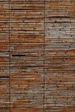 Struttura del fondo di uno schermo di bambù rustico Fotografie Stock Libere da Diritti