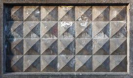 Struttura del fondo di vecchio recinto concreto grigio Immagine Stock
