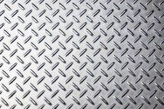 Struttura del fondo del metallo Piatto del diamante Immagini Stock