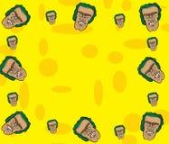 Struttura del fronte del fumetto Immagini Stock