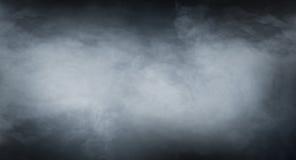 Struttura del fumo sopra fondo nero in bianco Fotografie Stock Libere da Diritti