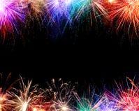 Struttura del fuoco d'artificio Fotografia Stock