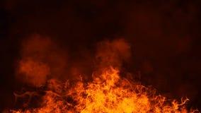 Struttura del fuoco dell'ustione Fiamme su fondo nero isolato Struttura per l'insegna, aletta di filatoio, carta fotografie stock libere da diritti