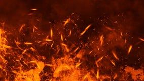 Struttura del fuoco dell'ustione Fiamme su fondo nero isolato Struttura per l'insegna, aletta di filatoio, carta fotografie stock