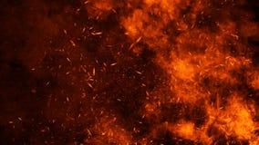 Struttura del fuoco dell'ustione Fiamme su fondo nero isolato Struttura per l'insegna, aletta di filatoio, carta immagine stock libera da diritti