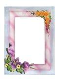 Struttura del gesso per la foto con i fiori Immagini Stock