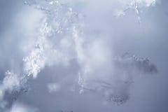 Struttura del ghiaccio dai fiocchi di neve Fotografie Stock