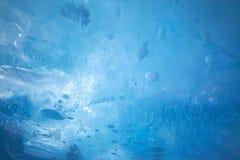 Struttura del ghiaccio del blu di turchese Fotografia Stock