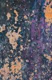 Struttura del metallo arrugginita lerciume e metallo ossidato fotografie stock