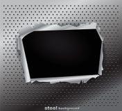 Struttura del metallo con un foro Fotografie Stock Libere da Diritti