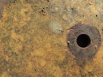 Struttura del metallo del ferro con ossido di ferro rosso Fotografia Stock