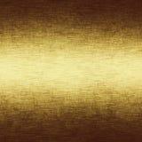 Struttura del metallo dell'oro con struttura fragile della tela di canapa illustrazione di stock