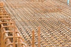 Struttura del metallo di rinforzo Fotografia Stock Libera da Diritti