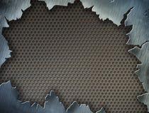 Struttura del metallo o blocco per grafici o modello incrinato Immagini Stock Libere da Diritti
