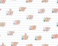 Struttura del modello dell'icona di gesto Immagini Stock