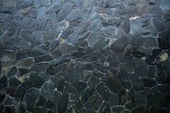 Struttura del modello della pietra del nero scuro Fotografie Stock Libere da Diritti