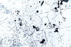Struttura del muro di cemento imbiancato con le crepe ed i punti Immagini Stock