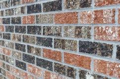Struttura del muro di mattoni con il tatto Grungy - alto vicino Fotografie Stock