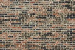 Struttura del muro di mattoni con il tatto Grungy visto dalla parte anteriore Fotografia Stock Libera da Diritti