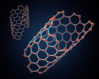 Struttura del nanotube del carbonio Fotografia Stock
