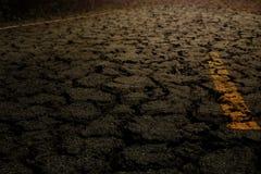 Struttura del nero dell'asfalto della crepa Fotografia Stock Libera da Diritti