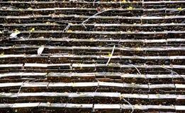 Struttura del nord tailandese del tetto del mattone immagini stock libere da diritti