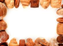 Struttura del pane isolata su bianco Immagini Stock