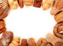 Struttura del pane su bianco Immagine Stock Libera da Diritti
