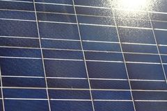 Struttura del pannello solare Fotografia Stock